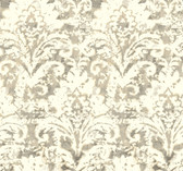 NN7301 - Cloud Nine Batik Damask Removable Wallpaper