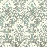 Cloud Nine NN7304 - Batik Damask Wallpaper Blue