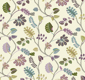 Waverly Small Prints WP2400 - A New Leaf Wallpaper Tan