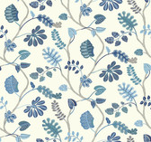 Waverly Small Prints WP2402 - A New Leaf Wallpaper Aqua