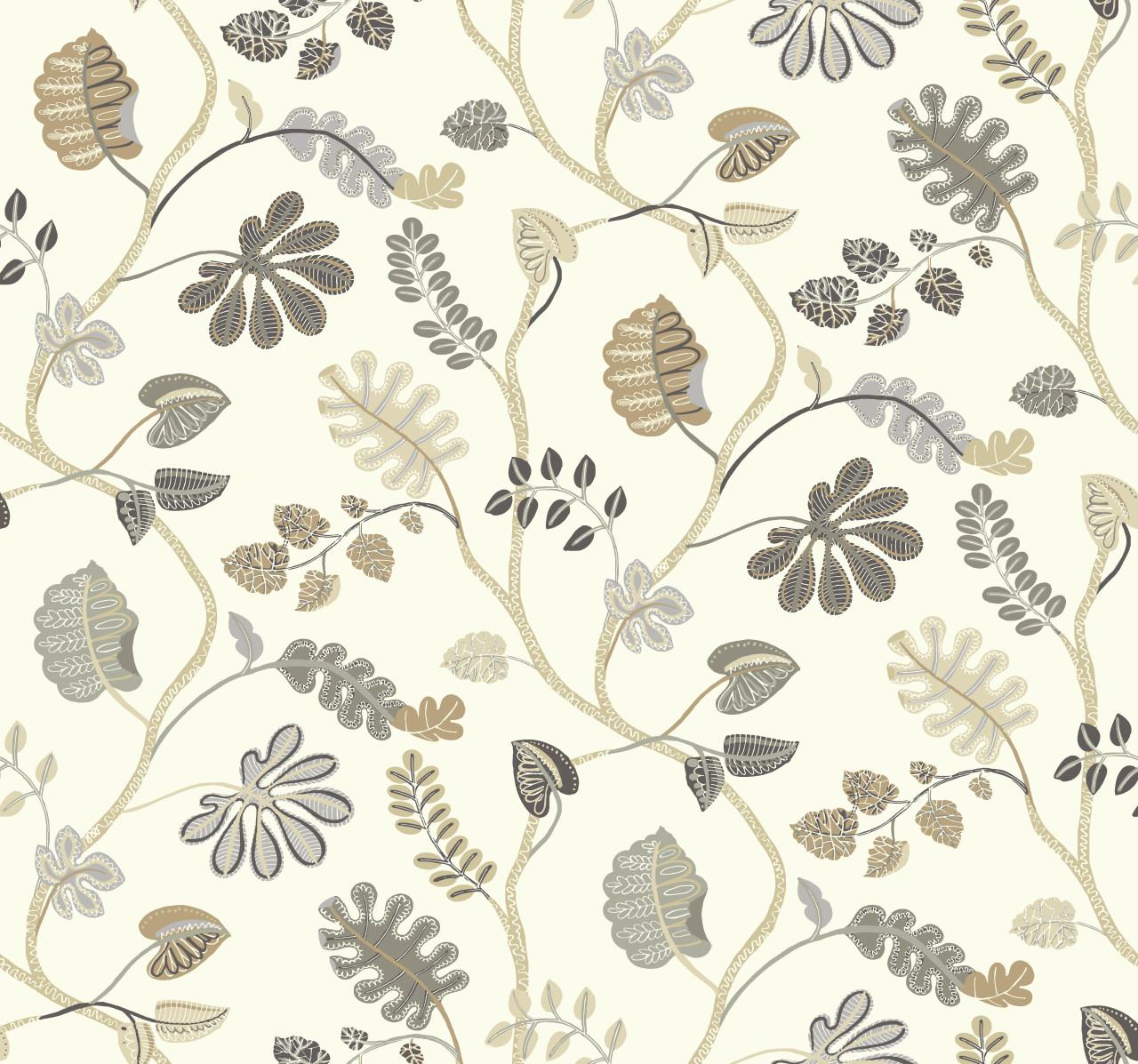 Wp2403 Waverly Small Prints A New Leaf Wallpaper