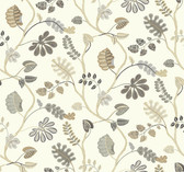 Waverly Small Prints WP2403 - A New Leaf Wallpaper Beige