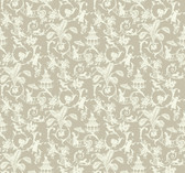 Waverly Small Prints WP2409 - Palm Palace Wallpaper Grey