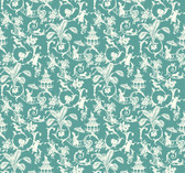 WP2410 - Waverly Small Prints Palm Palace Wallpaper