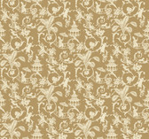 WP2412 - Waverly Small Prints Palm Palace Wallpaper