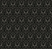 Waverly Small Prints WP2448 - Essence Wallpaper Black