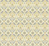 Waverly Small Prints WP2457 - Santa Maria Wallpaper Mustard Yellow/Beige