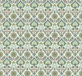 Waverly Small Prints WP2458 - Santa Maria Wallpaper Teal/Cocoa Brown