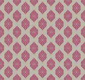 Waverly Small Prints WP2480 - Garden Gate Wallpaper Hot Pink/Silver Satin