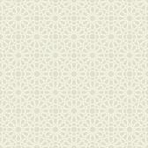 Waverly Small Prints WP2487 - Starry Eyed Wallpaper Light Grey/Cream