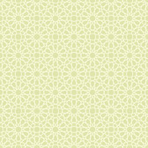 Waverly Small Prints WP2490 - Starry Eyed Wallpaper Pale Celery Green/Cream
