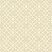 Waverly Small Prints WP2494 - Lovely Lattice Wallpaper Ecru/Cream