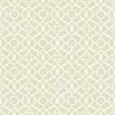Waverly Small Prints WP2495 - Lovely Lattice Wallpaper Grey/Beige