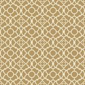 Waverly Small Prints WP2497 - Lovely Lattice Wallpaper Gold Satin/Rich Cream