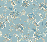 Waverly Classics II WC7522 - Arbor Imagery Wallpaper Blue