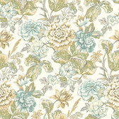 Waverly Classics II WC7532 - Sonnet Sublime Wallpaper Ivory