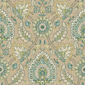 Waverly Classics II WC7575 - Clifton Hall Wallpaper Brown