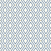 Waverly Classics II WC7581 -  Diamond Duo Wallpaper Blue