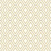 Waverly Classics II WC7584 -  Diamond Duo Wallpaper Brown