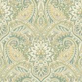 Waverly Classics II WC7600 - Swept Away Wallpaper Green