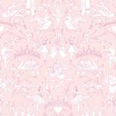 A Perfect World KI0500 - Ballet Toile Wallpaper Pink