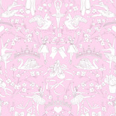 A Perfect World KI0502 - Ballet Toile Wallpaper Orchid