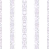 A Perfect World KI0506 - Ballerina Stripe Wallpaper Pearl/Purple