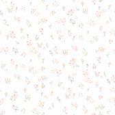 A Perfect World KI0519 - Watercolor Floral Bouquet Wallpaper Peach/Aqua