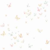A Perfect World KI0524 - Watercolor Butterflies Wallpaper Peach