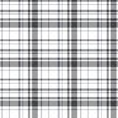 A Perfect World KI0528 - Polka Dot Plaid Wallpaper Black/Silver