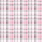 A Perfect World KI0529 - Polka Dot Plaid Wallpaper Pink/Black