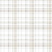 A Perfect World KI0531 - Polka Dot Plaid Wallpaper Neutral
