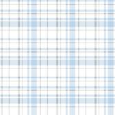 A Perfect World KI0532 - Polka Dot Plaid Wallpaper Blue