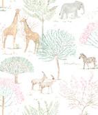 A Perfect World KI0540 - On The Savanna Wallpaper Pastel