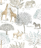 A Perfect World KI0541 - On The Savanna Wallpaper Neutral