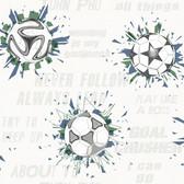 A Perfect World KI0575 - Soccer Ball Blast Wallpaper Navy