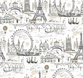 KI0584 - Novelty Euro ScenicWallpaper
