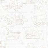 KI0596 - Construction BlueprintWallpaper