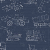 KI0597 - Construction BlueprintWallpaper