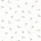 3118-12622 Soar Turquoise Bird Wallpaper