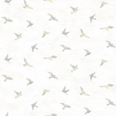 3118-12623 Soar Grey Bird Wallpaper