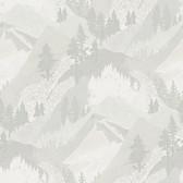 3118-12633 Range Light Grey Mountains Wallpaper