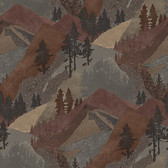 3118-12634 Range Rust Mountains Wallpaper