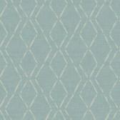 3118-12652 Tapa Teal Trellis Wallpaper