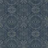 3118-12661 Java Navy Medallion Wallpaper