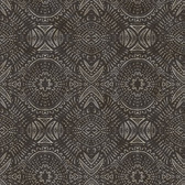 3118-12663 Java Dark Brown Medallion Wallpaper