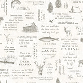 Birch & Sparrow 3118-01473 - North Hills Camping Quotes Wallpaper White