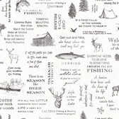 Birch & Sparrow 3118-01475 - North Hills Camping Quotes Wallpaper Black