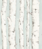 3118-12602 Pioneer Light Blue Birch Tree Wallpaper