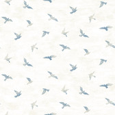 Birch & Sparrow 3118-12621 - Soar Bird Wallpaper - Denim